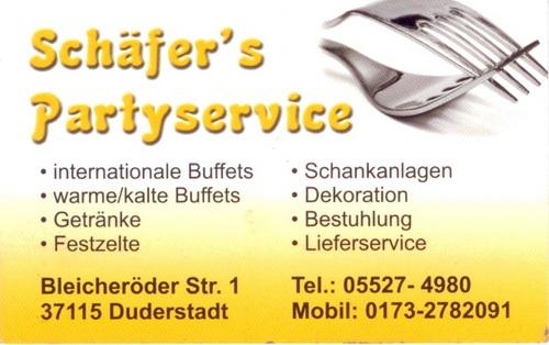 Schäfers Partyservice