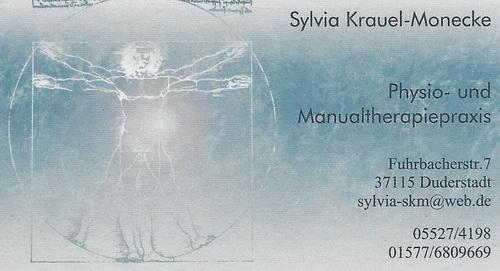 Physio- und Manualtherapiepraxis<br> Sylvia Krauel-Monecke