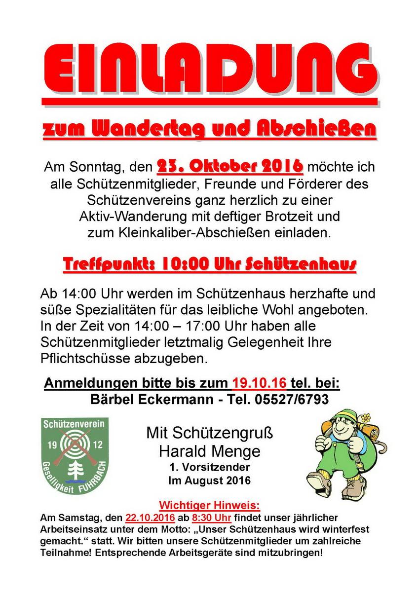 Wandertag Abschiessen 2016